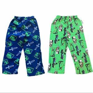 Minecraft Pajama Pants Lot of 2 Boy's PJ Bottoms 5
